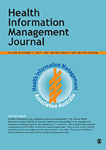 Health Information Management Journal | SAGE Publications Ltd