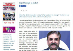 sage strategy in india