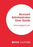 SAGE Journals Account Administrator User Guide