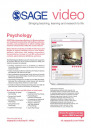 Image of SAGE Video Psychology flyer