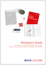 Image of front page of SAGE's Reviewer guide